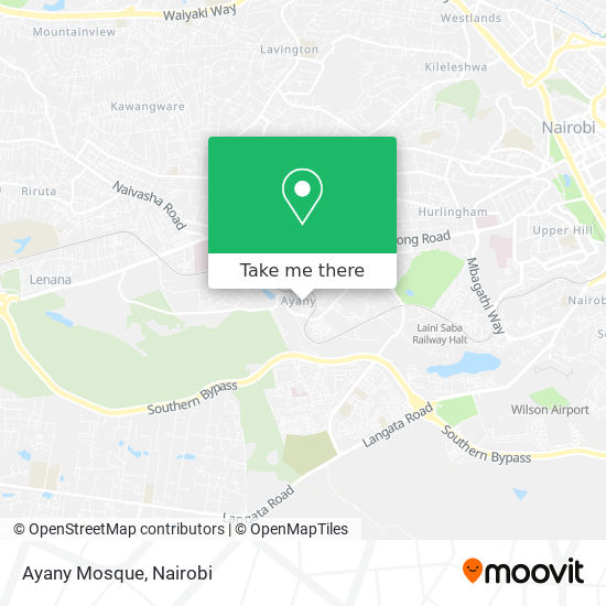 Ayany Mosque map