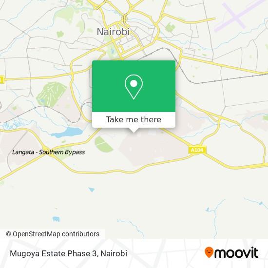 Mugoya Estate Phase 3 map