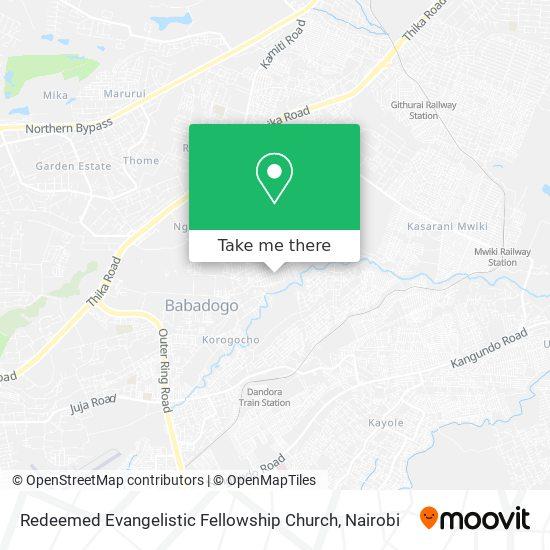 Redeemed Evangelistic Fellowship Church map