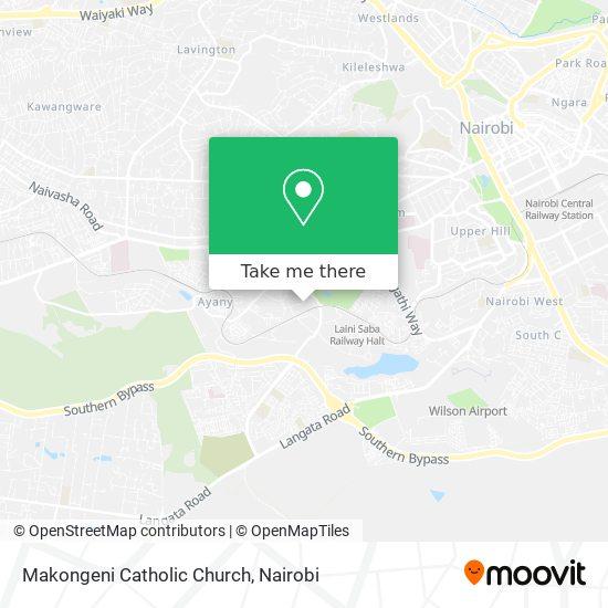 Makongeni Catholic Church map