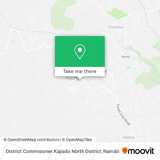 District Commisioner Kajiado North District map