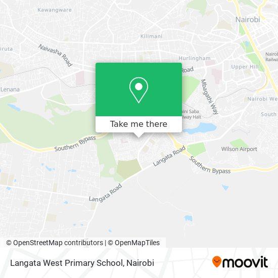 Langata West Primary School map