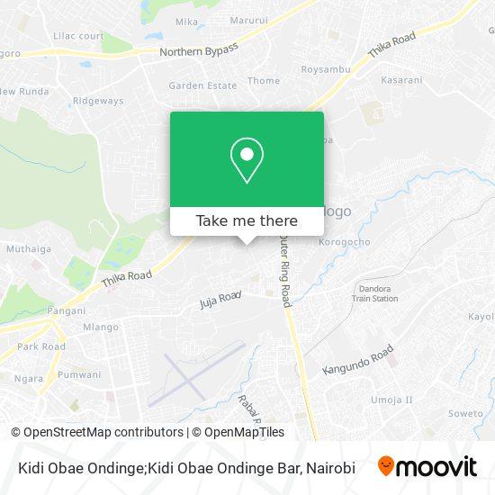 Kidi Obae Ondinge map