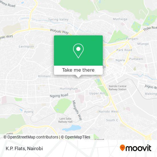 K.P. Flats map