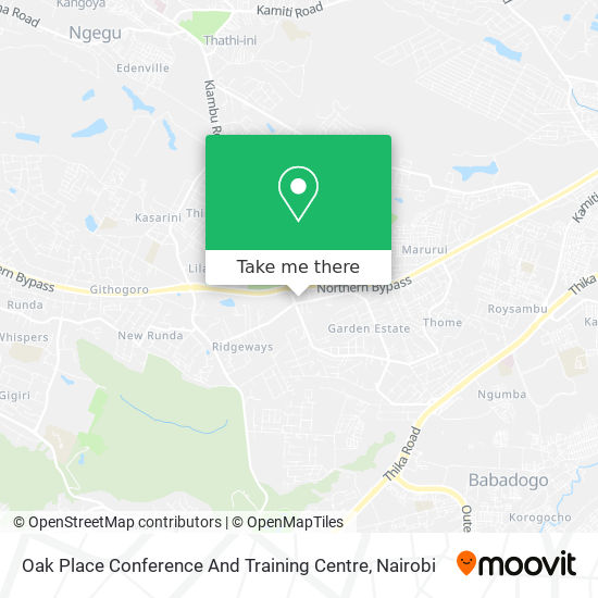 Oak Place Conference And Training Centre map