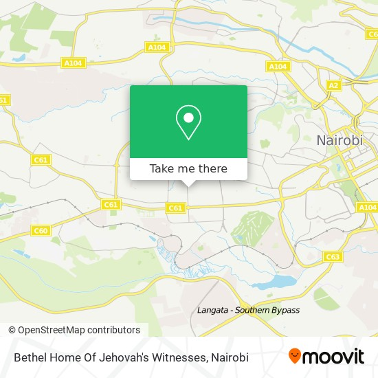 Bethel Home Of Jehovah's Witnesses map