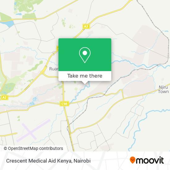 Crescent Medical Aid Kenya map