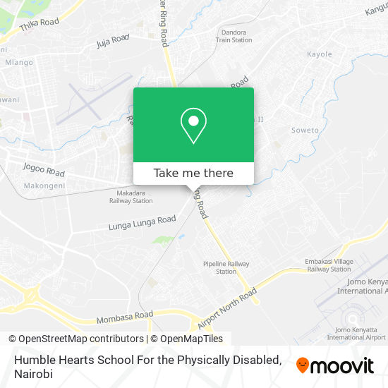 Humble Hearts School For The Physically Disabled map
