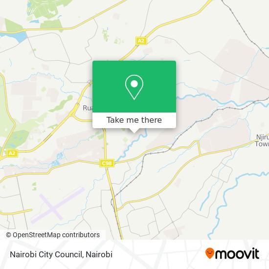 Nairobi City Council map