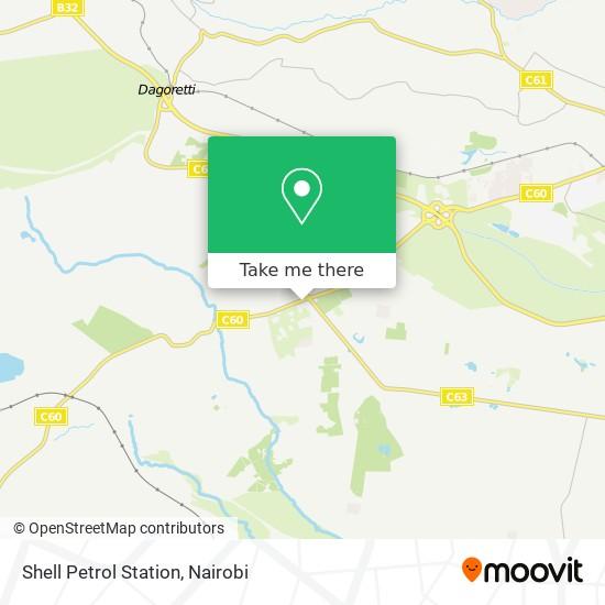 Shell Petrol Station map