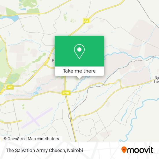 The Salvation Army Chuech map
