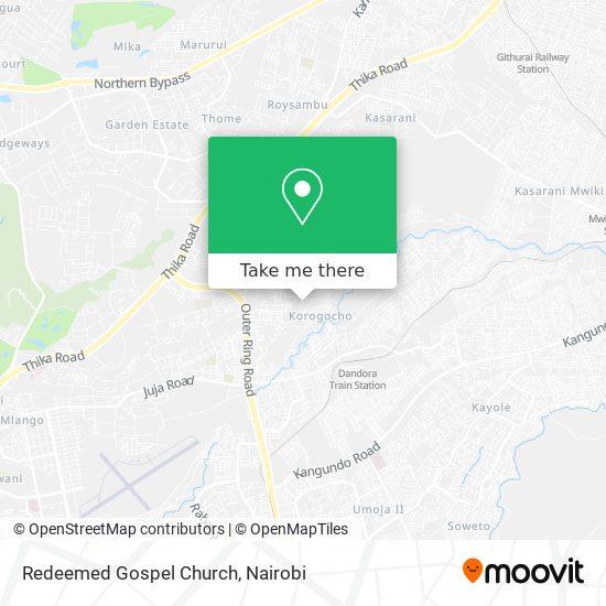 Redeemed Gospel Church map