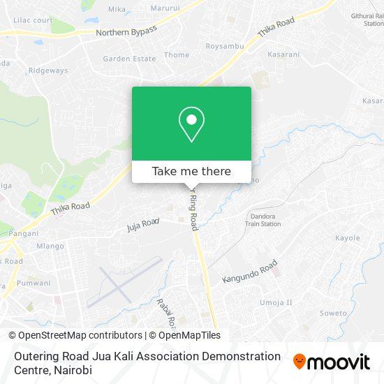 Outering Road Jua Kali Association Demonstration Centre map