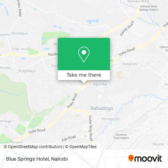 Blue Springs Hotel map