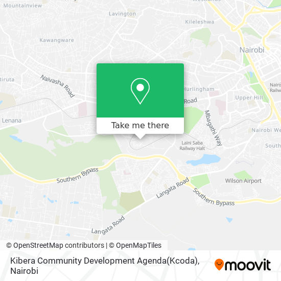 Kibera Community Development Agenda(Kcoda) map
