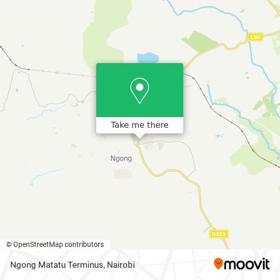 Ngong Matatu Terminus map