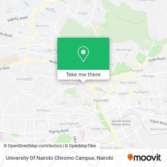 University Of Nairobi Chiromo Campus map