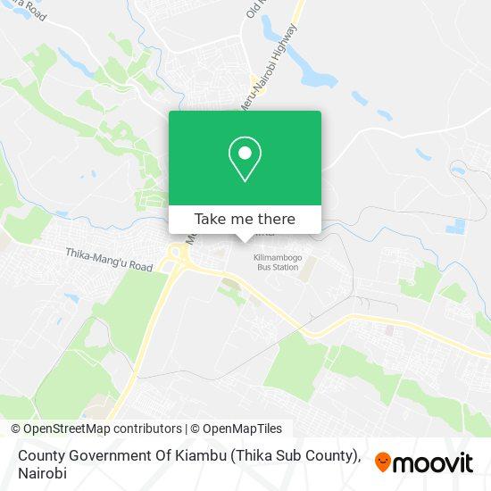 County Government Of Kiambu (Thika Sub County) map