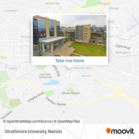 Strathmore University map