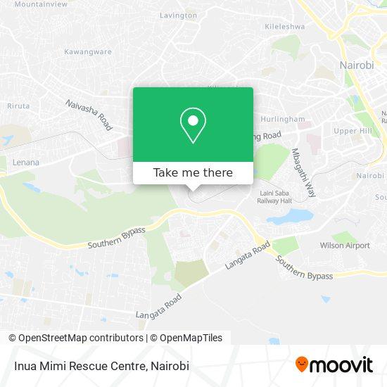 Inua Mimi Rescue Centre map