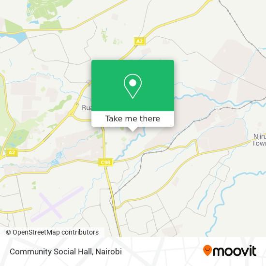 Community Social Hall map