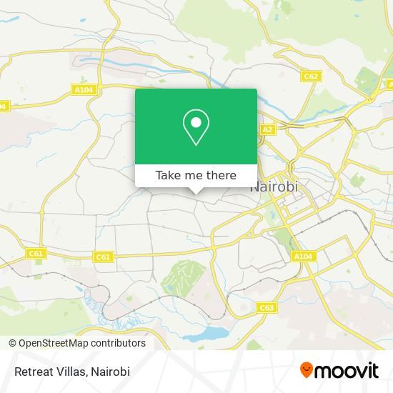 Retreat Villas map
