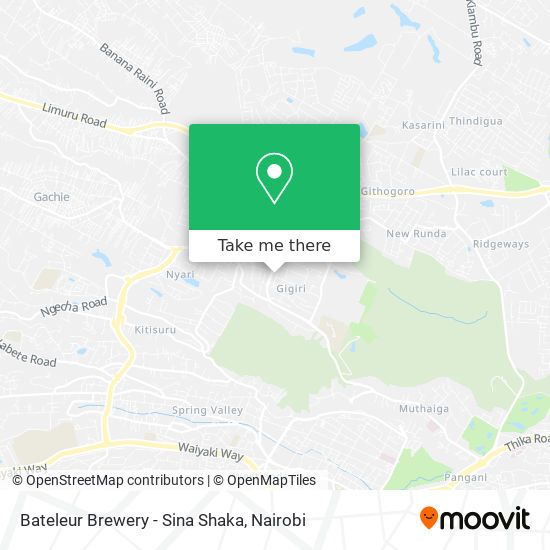 Bateleur Brewery - Sina Shaka map