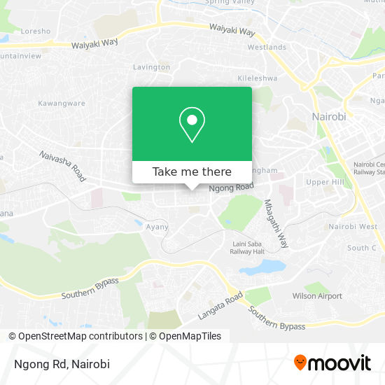 Ngong Rd map