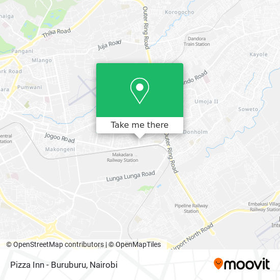 Pizza Inn - Buruburu map
