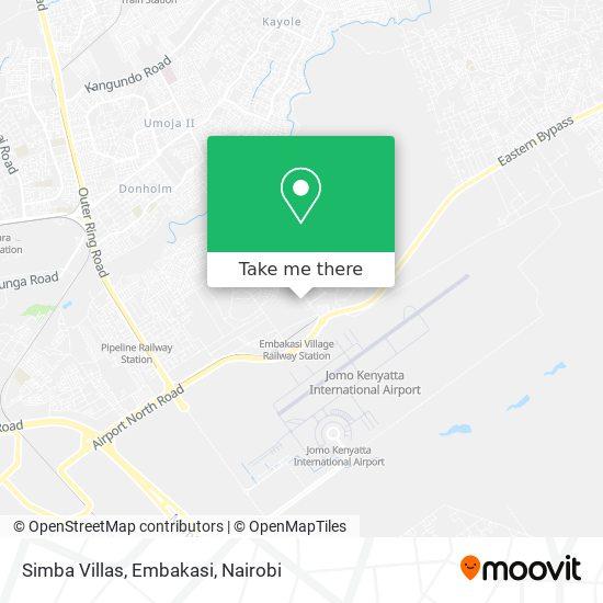 Simba Villas, Embakasi map