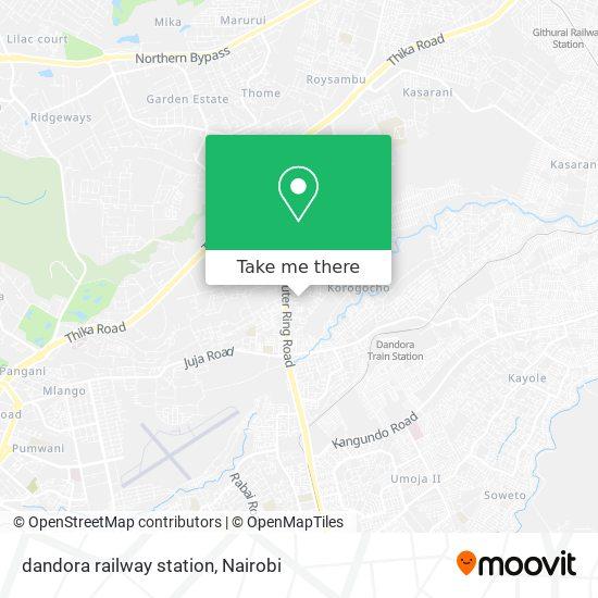 dandora railway station map