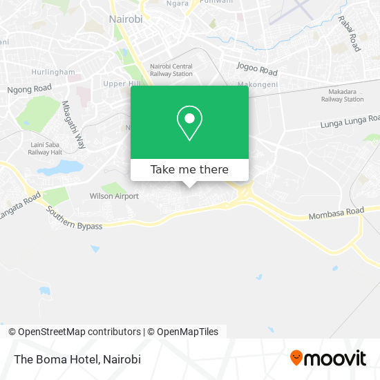 The Boma Hotel map
