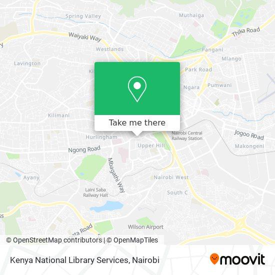 Kenya National Library Services map
