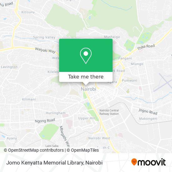 Jomo Kenyatta Memorial Library map