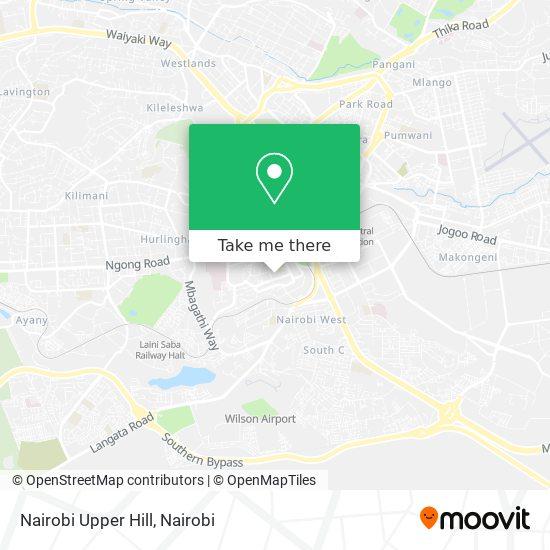 Nairobi Upper Hill map