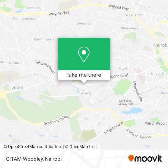 CITAM Woodley map