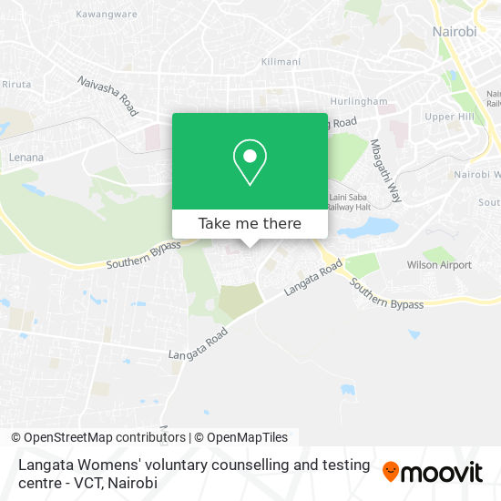 Langata Womens' voluntary counselling and testing  centre - VCT map