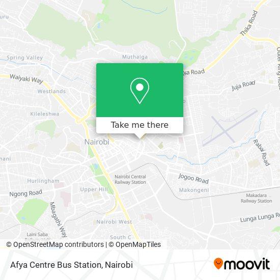 Afya Centre Bus Station map