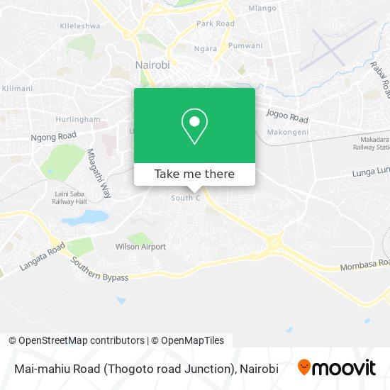 Mai-mahiu Road (Thogoto road Junction) map