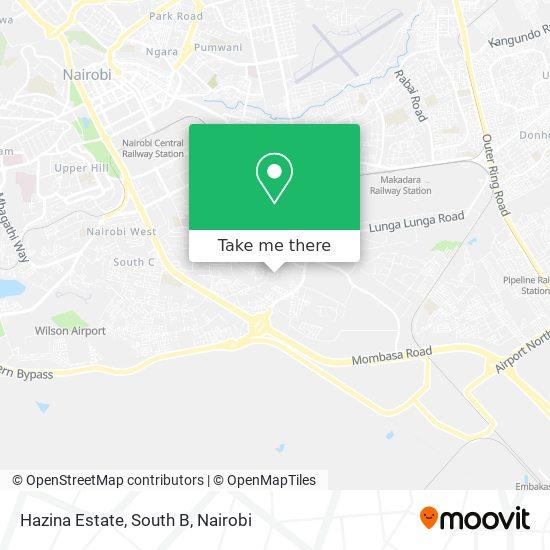 Hazina Estate, South B map