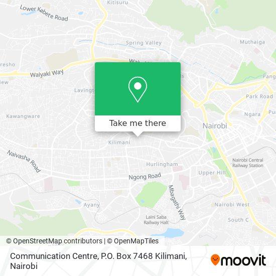 Communication Centre, P.O. Box 7468 Kilimani map