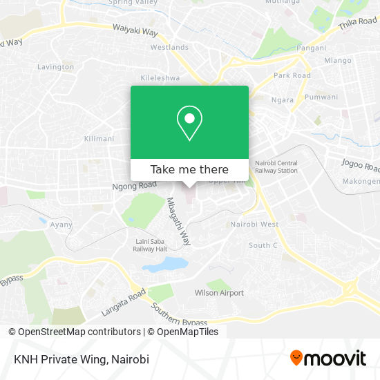 KNH Private Wing map