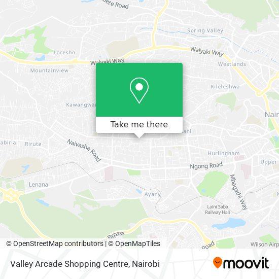 Valley Arcade Shopping Centre map