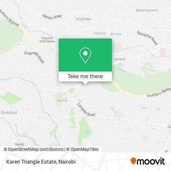 Karen Triangle Estate map