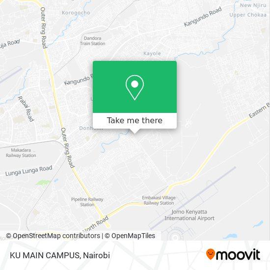 KU MAIN CAMPUS map