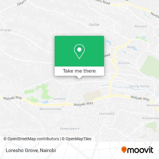 Loresho Grove map