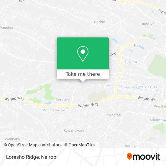 Loresho Ridge map
