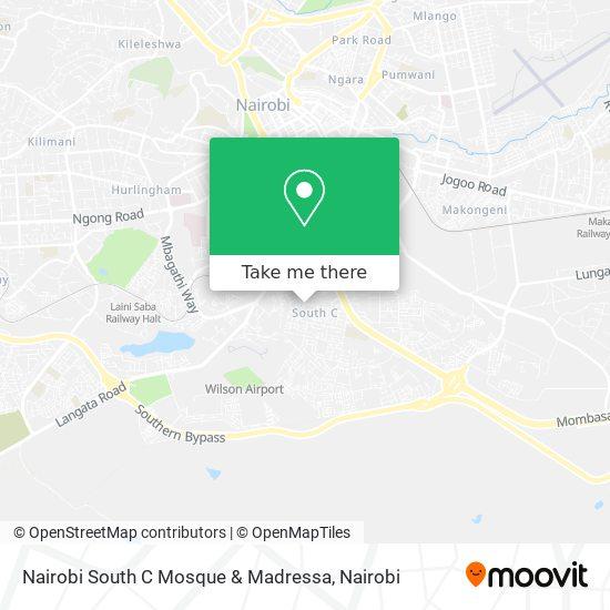 Nairobi South C Mosque & Madressa map