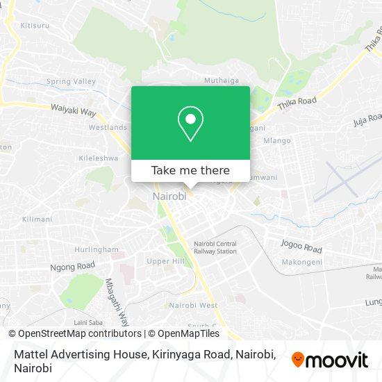Mattel Advertising House, Kirinyaga Road, Nairobi map