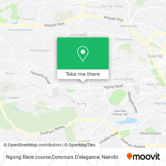 Ngong Race course,Concours D'elegance map